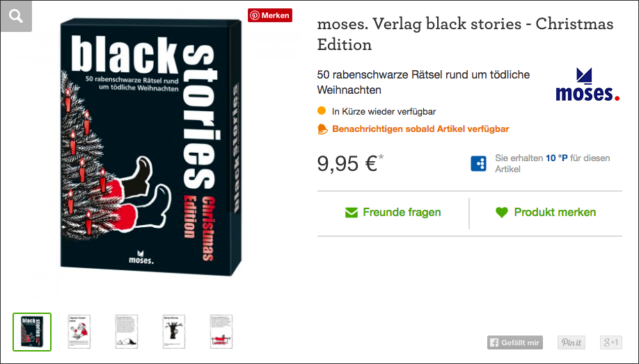 Wichtelgeschenk: black stories