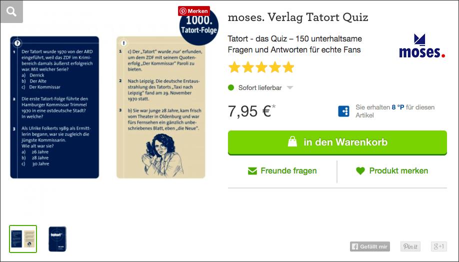 Wichtelgeschenk: Tatort Quiz