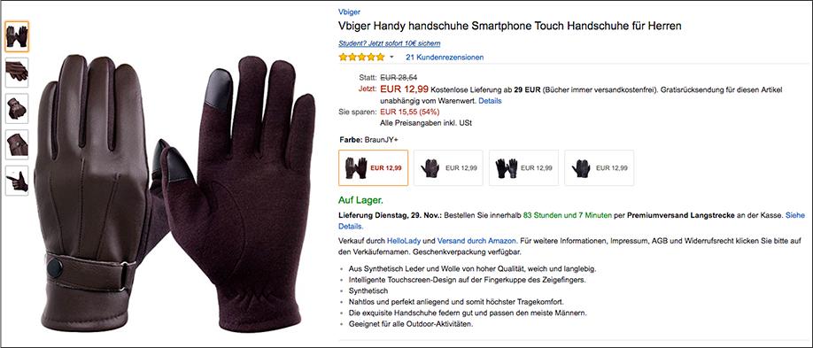 Wichtelgeschenk: Smartphone-Handschuhe