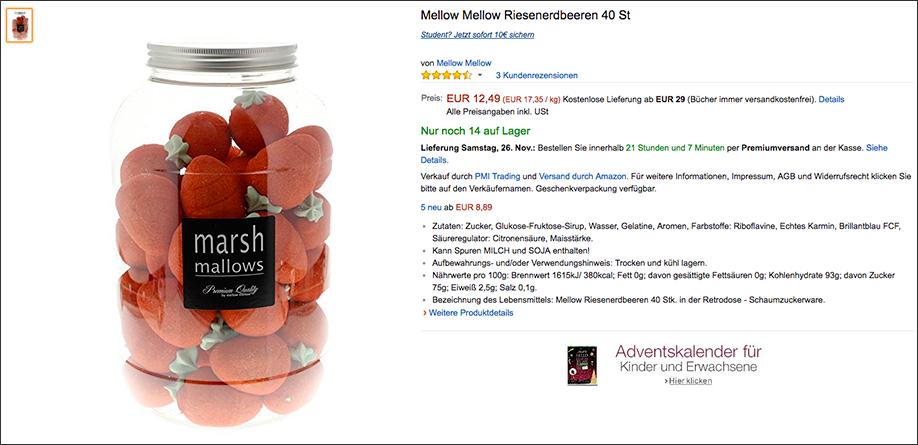 Wichtelgeschenk: Erdbeer-Marshmallows